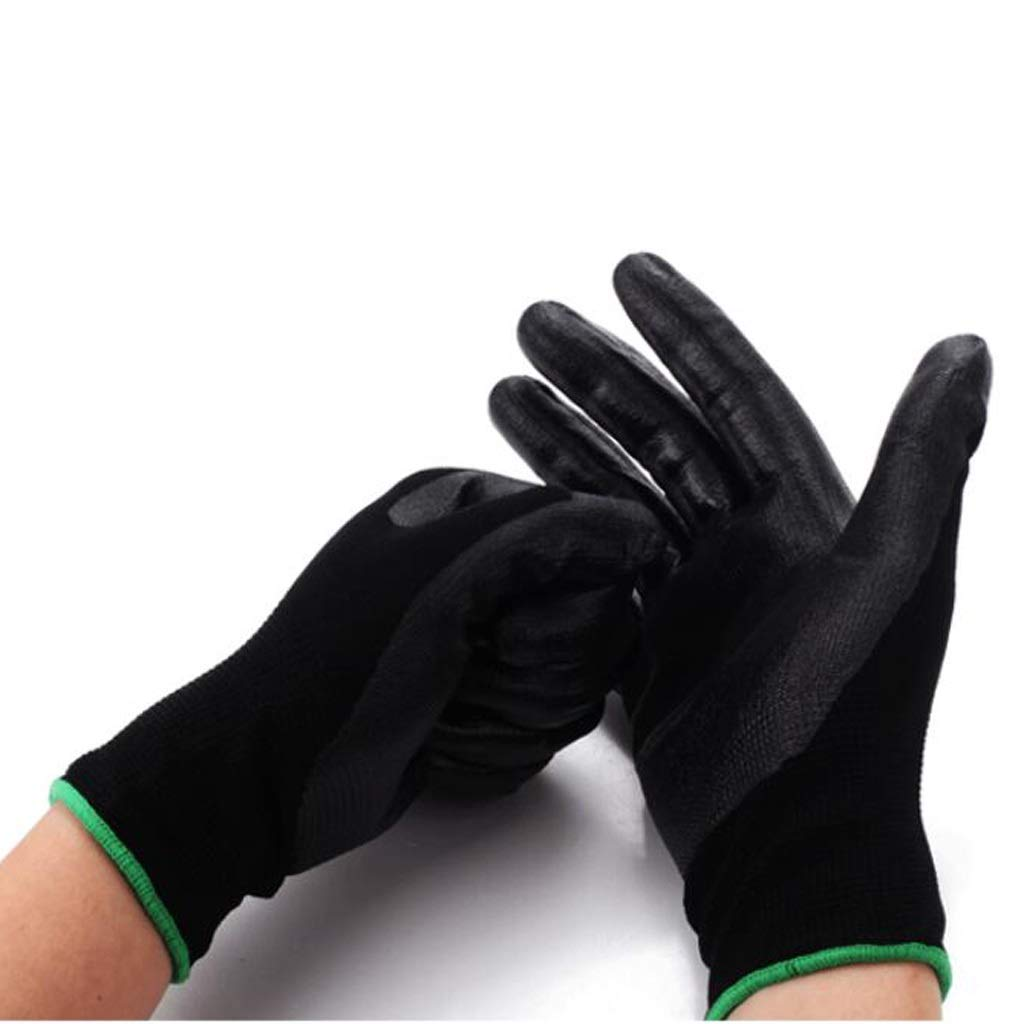 YSNBM Gloves Labor Insurance Gloves Dip Plastic Wear-Resistant Waterproof Coating Machinery Auto Repair Vehicle Industrial Gloves 12 Pairs Per Pack Gas Station,Dry Ice,Cold Storage,Industrial Glove