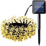 Qedertek Solar String Lights, Cherry Blossom 22ft 50 LED Waterproof Outdoor Decoration Lighting for Indoor/Outdoor...