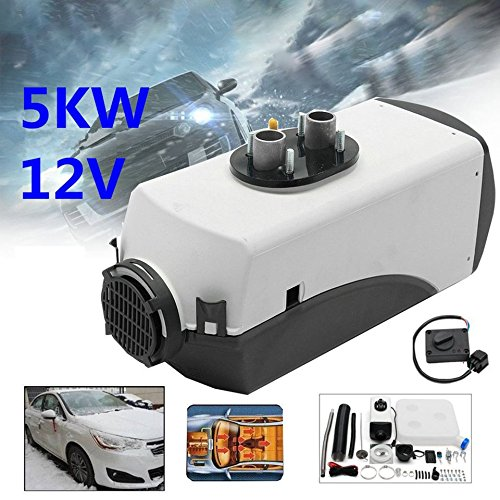 Swiftswan 12V 8000W 4 Holes LCD Schalter Vehicle Air Diesel Heater for Cars Trucks Boats Color:Black /& White