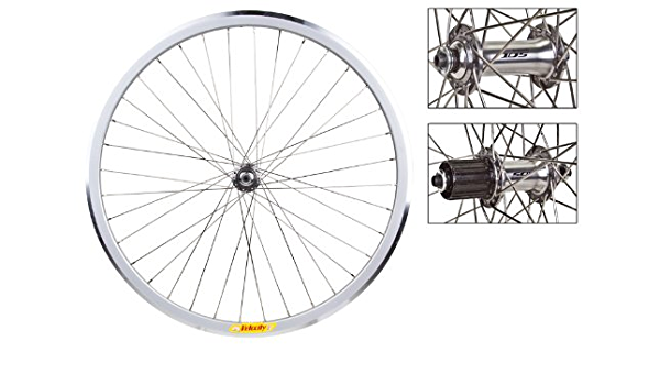 Shimano 7000 105 Hubs 36h Wheelset DT Road Gravel Velocity Deep V Silver