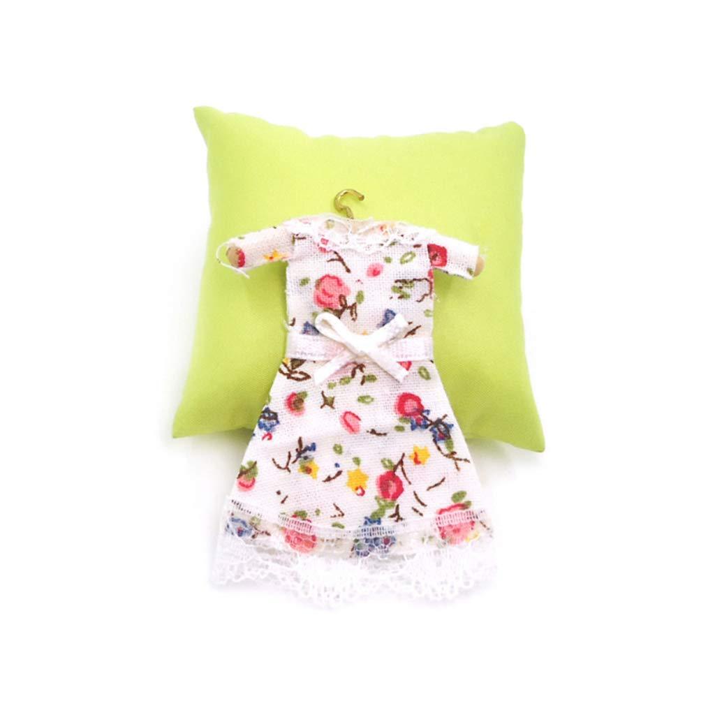 aoixbcuroc 1:12 Escala Dollhouse Miniatura Vestido Princesa Disfraz Casa de mu/ñecas Accesorios Sala de Estar Decoraci/ón del hogar