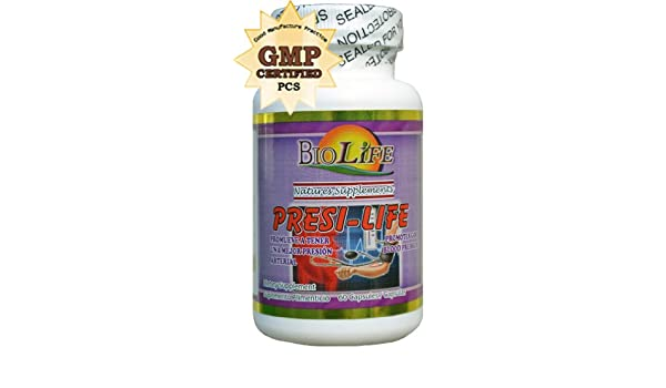 Amazon.com: Presi Life 60 Caps By Biolife High Blood Pressure Support Supplements 500mg: Health & Personal Care