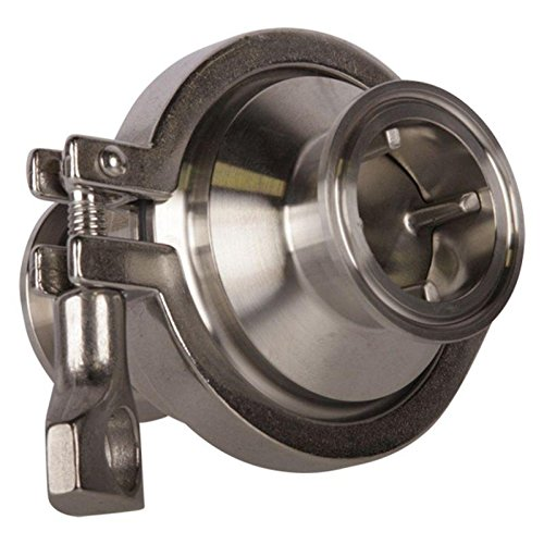 Glacier Tanks - Check Valve | Tri Clamp 1.5 inch - Sanitary Stainless Steel SS304 (2 Pack)