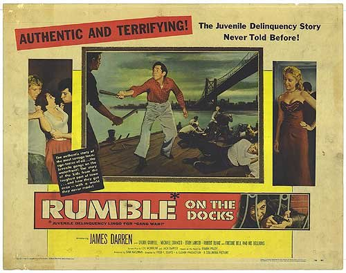 Rumble On The Docks   Authentic Original 28  X 22  Movie Poster