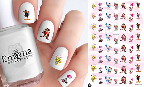 Looney Toons Valentine's Day Nail Decals (Set of
