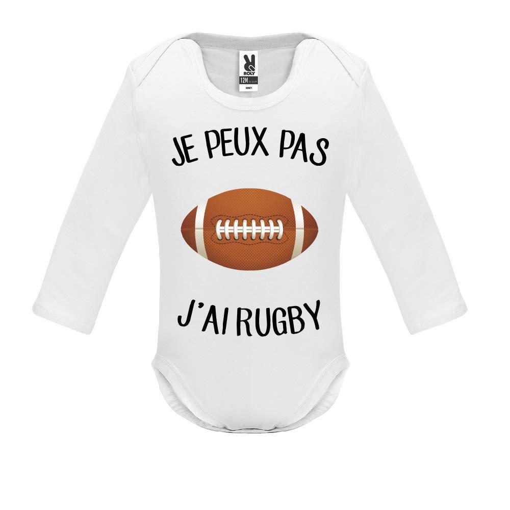 Manche Longue Je Peux Pas j AI Rugby Body b/éb/é B/éb/é Gar/çon