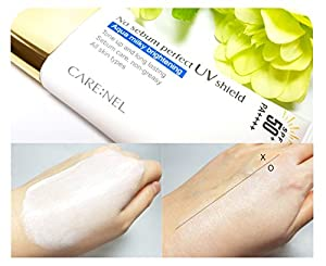 [CARENEL] No-Sebum Sunscreen Spf 50 - Skin Care Korean Face Natural Sun Block for Women, Men, Kids and Baby - for Sensitive Skin oily skin anti aging - Small Size good for Travel, Sport