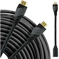 HDMI Cable 75 Ft, GearIT Pro Series High Speed HDMI Cable (75 Feet / 22.8 Meters) Supports 4K 3D Audio Return Channel CL2 In-Wall Rated with Ethernet And Build-in Signal Booster, Black