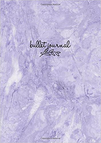 Bullet Journal: Marble Lila Notizbuch A5 Dotted, Bullet ...