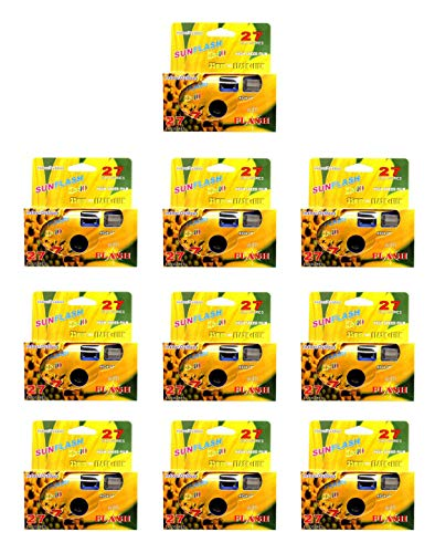 SunFlash Disposable Camera 35mm Film One Time Single Use D-10 Fresh 2020 (10-Pack)