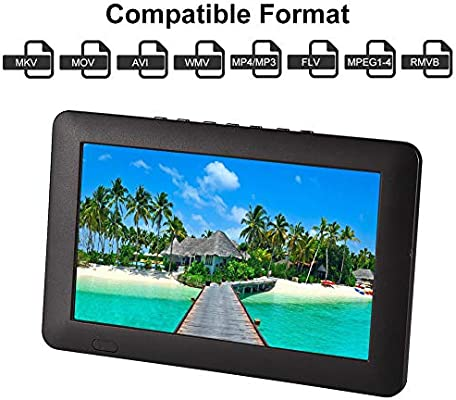 Acogedor - Televisor Digital ATSC portátil pequeño de 7 Pulgadas ...
