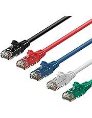 Rankie Câble réseau Ethernet, RJ45 Cat6 Patch, 1,5m, Lot de 5