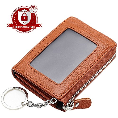 Lecxci Mens Womens Leather Change Wallets