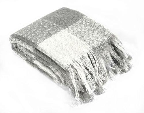 Brielle Mohair Throw, Grey (Grey Mohair)
