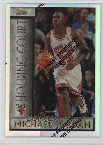 Michael Jordan  Basketball Card  1996 97 Topps   Holding Court   Refractor  Hc2