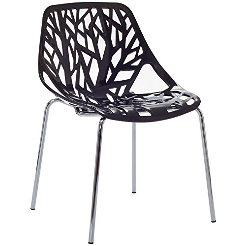 Modern Dining Chair, Black, Outdoor and Indoor by America Luxury - Chairs