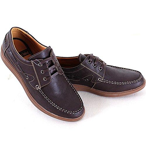 Nieuwe Polytec Klassieke Formele Lace Up Mode Sneakers Heren Boot Casual Kleding Schoenen Bruin