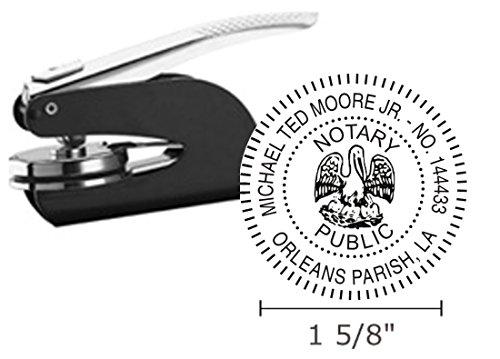 Louisiana Notary Seal Embosser, Pocket/Hand Model, 1-5/8