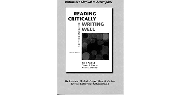 instructor s manual to accompany reading critically writing well a rh amazon com Procedure Manual Procedure Manual