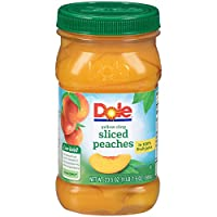 Dole, Yellow Cling Sliced Peaches in 100% Fruit Juice, 23.5oz, 8 jars