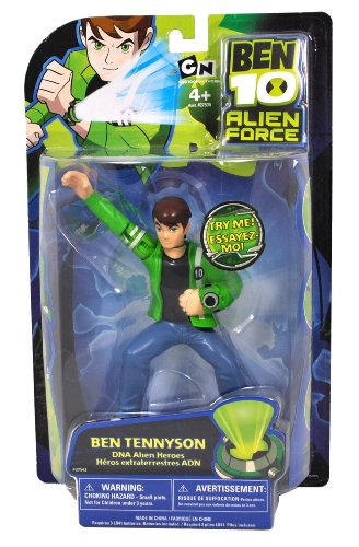 Tennyson Alien Collection (Cartoon Network Ben 10 Alien Force DNA Alien Heroes Collection Series 6 Inch Tall Action Figure - BEN TENNYSON with Light Up Omnitrix)