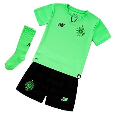 Celtic FC 17 18 3rd Mini Kids Football Kit - Vivid Cactus - size 18 ... c5ffba17b