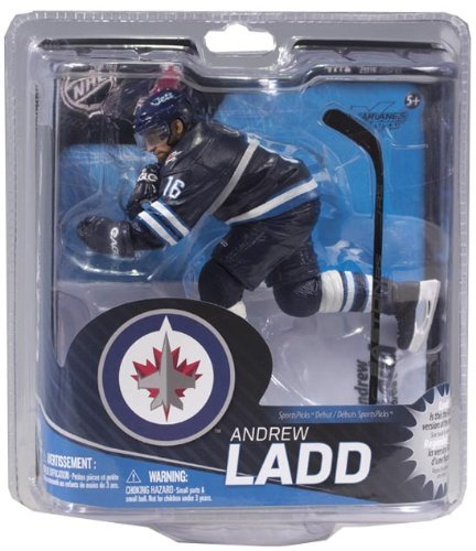 McFarlane Sportspicks: NHL Series 31 Andrew Ladd - Winnipeg Jets Bronze LEVEL VARIANT Blue Jersey Action Figure by Unknown