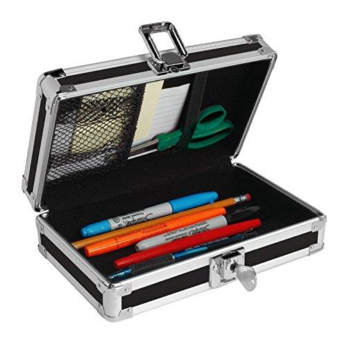 Vaultz Locking Pencil Box, 8.25 x 5.5 x 2.5 Inches, Blue (VZ01259) ()