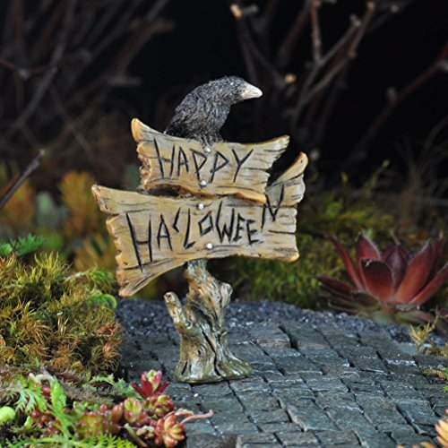 Sunnyfly Miniature Happy Halloween Sign With Crow On Top, (Gifs De Happy Halloween)