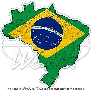 Brasilien brasilianisches map-flag Brasil 10,2 cm (100 mm ...