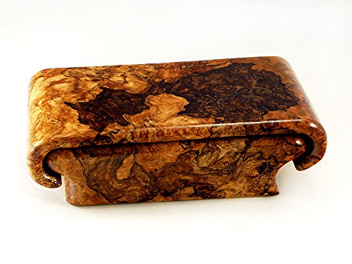 Spalted Lace Maple Burl Box by Wood Box Art