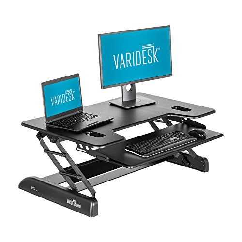 VARIDESK - Height-Adjustable Standing Desk - Exec 40 - Black by VARIDESK