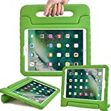 Surom Case for New iPad 9.7 Inch 2018/2017 - ShockProof Case Light Weight Kids Case Cover with Handle Stand Case for iPad 9.7 Inch 2018 & 2017 New Model/iPad Air/iPad Air 2 Tablet, Green