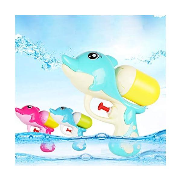 Jiobapiongxin Cartone Animato per Bambini Pistola ad Acqua a Pressione Summer Beach Pistola ad Acqua per Delfini Gioca a… 3 spesavip