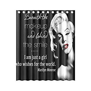 Marilyn Monroe 60inch by 72inch Polyester Shower Curtain One Side Design Only