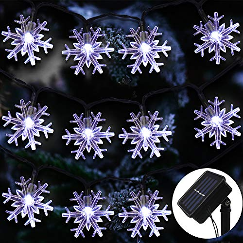Outdoor Snowflake Tree Lights in US - 8