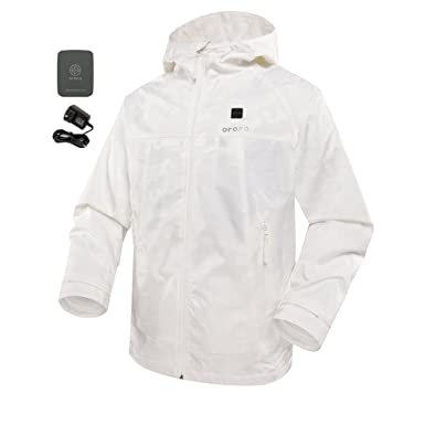 4831ee9a7 ororo Heated Jacket Windbreaker with Battery Pack Unisex