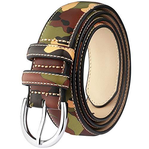 Falari Women Genuine Leather Belt Fashion Dress Belt With Single Prong Buckle 6028-31 Colors