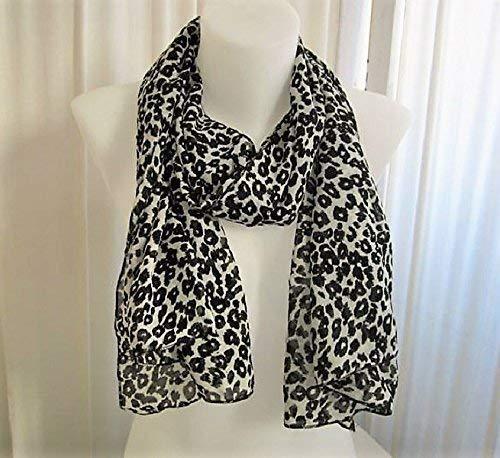 Echarpe leopard noir et blanc