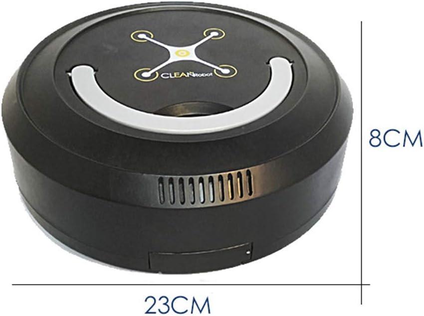 FAPROL Aspirateur Robot Poils d\'animaux Propres Balayeur De Sol À Capteur Intelligent avec Poignée Nettoyage Simple Black