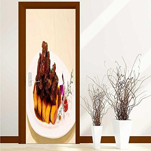aolankaili Art Door Decals Pumpkin Ribs for Door/Bathroom/Office W31 x H79 INCH