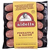 Aidells Chicken Sausage w/Pineapple And Bacon, NO MSG, Gluten Free, Fully Cooked, Ship Frozen, 3 Pound | Pack of 2