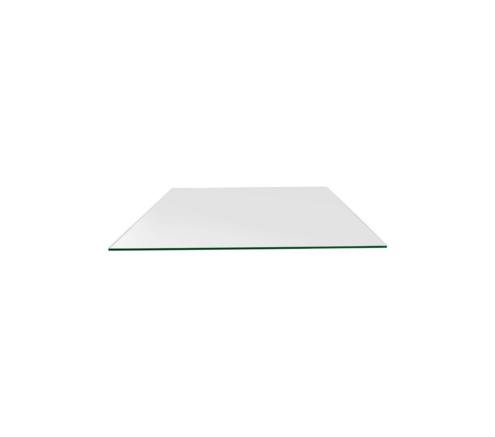 Wood & Style Patio Outdoor Garden Premium 24'' x 48'' Rectangle Glass Table Top 1/4'' Inch (6mm) Thick Flat Polish Edge Eased Corners, Tempered Clear