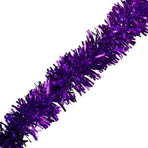 Purple Metallic Twist Garland - 4