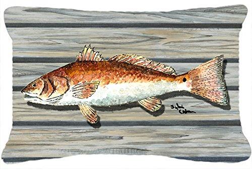 Caroline's Treasures 8489PW1216 Red Fish Canvas Fabric De...