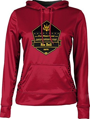 Price comparison product image Girls' Rio Dell Fire Protection District Fire Department Geometric Pullover Hoodie