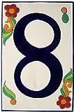 Big Talavera Ceramic Building Number Eight