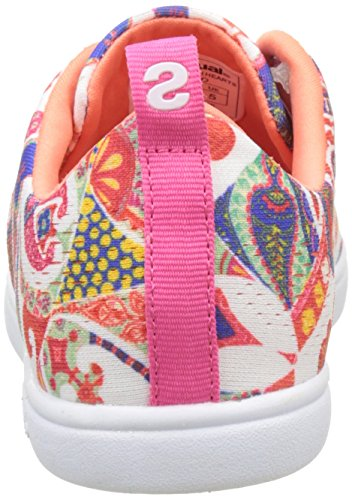 Desigual Damen Camden Cuori Sneaker Weiss (bianca 1000)