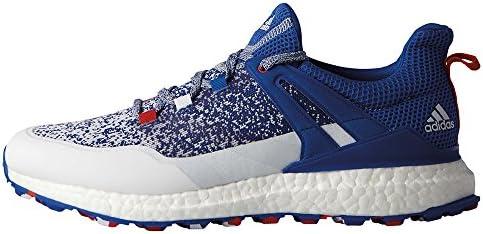 online retailer b01dc faf77 Adidas Crossknit Boost Golf Shoes DB1419 BlueWhiteRed - 9 Medium  Amazon.ca Sports  Outdoors