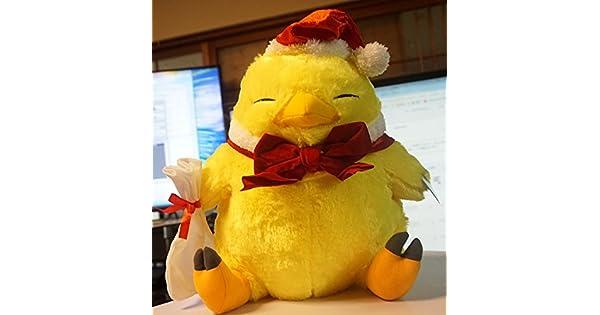 FINAL FANTASY XIV Chubby Chocobo Christmas Winter ver Plush Doll Stuffed Toy